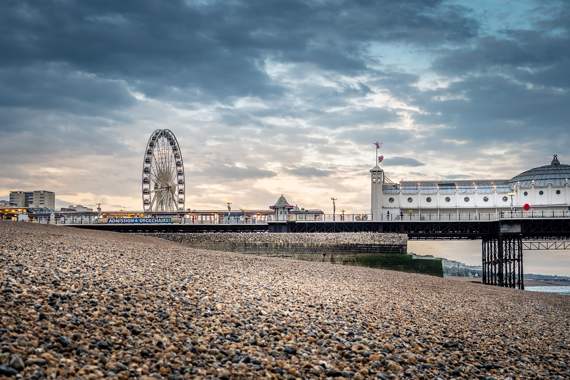 Landscape photo of Palace Pier in Brighton, England by Trevor Sherwin