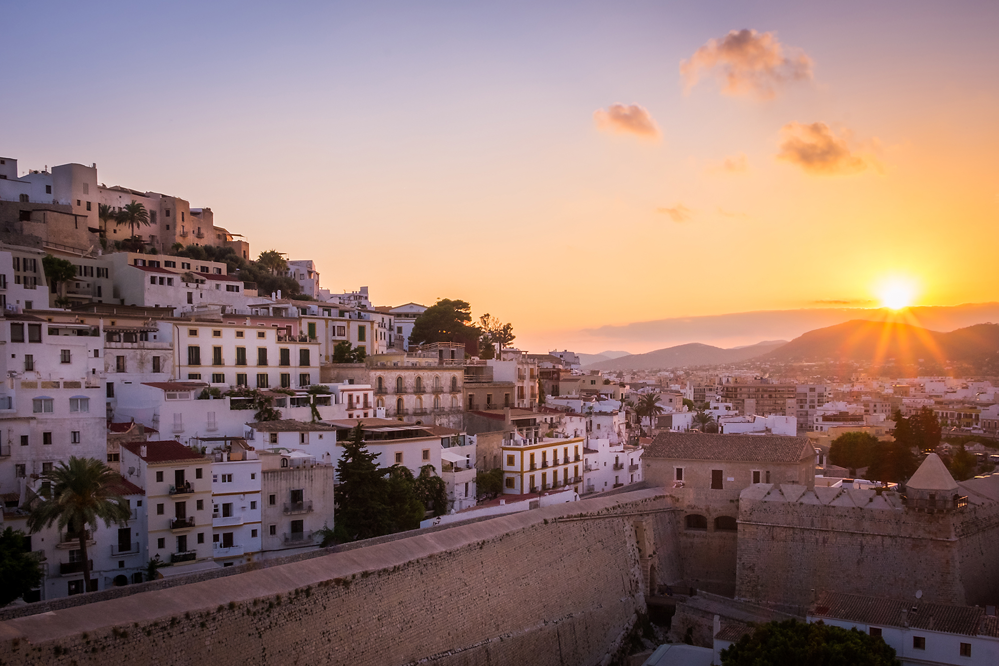 A sunset photo of Ibiza's Old Town, Ibiza, Spain by Trevor Sherwin