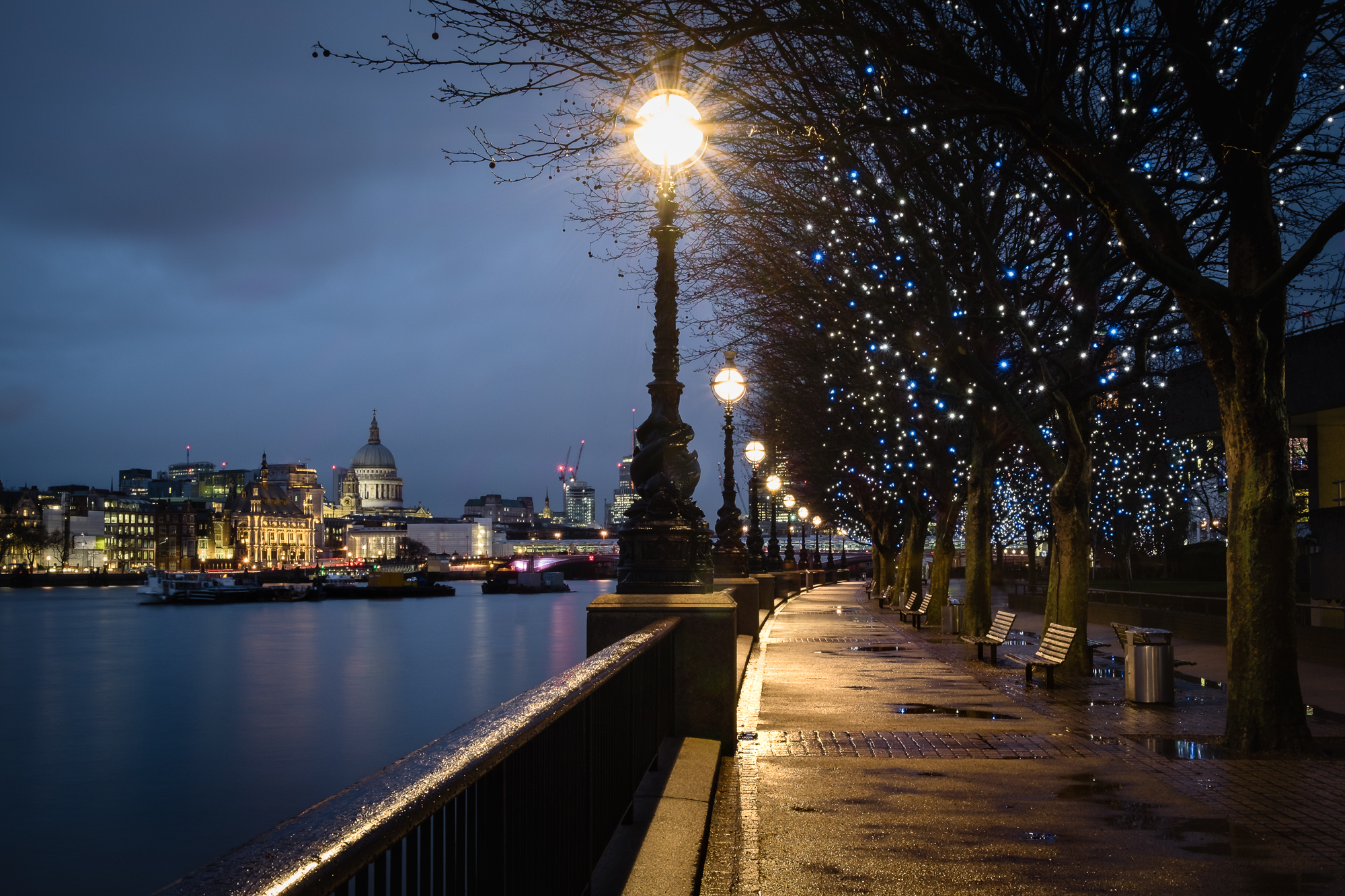 Cityscape photo of the South Bank and St Pauls, London by Trevor Sherwin