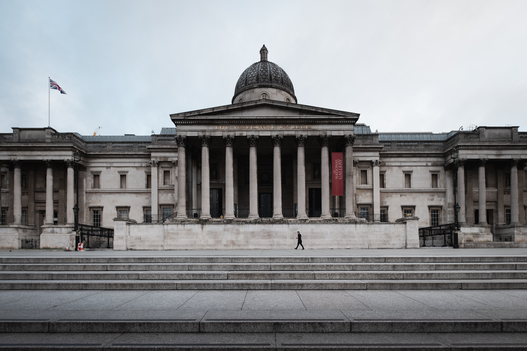 A photo of The National Portrait Gallery in Trafalgar Square, London taken by Trevor Sherwin