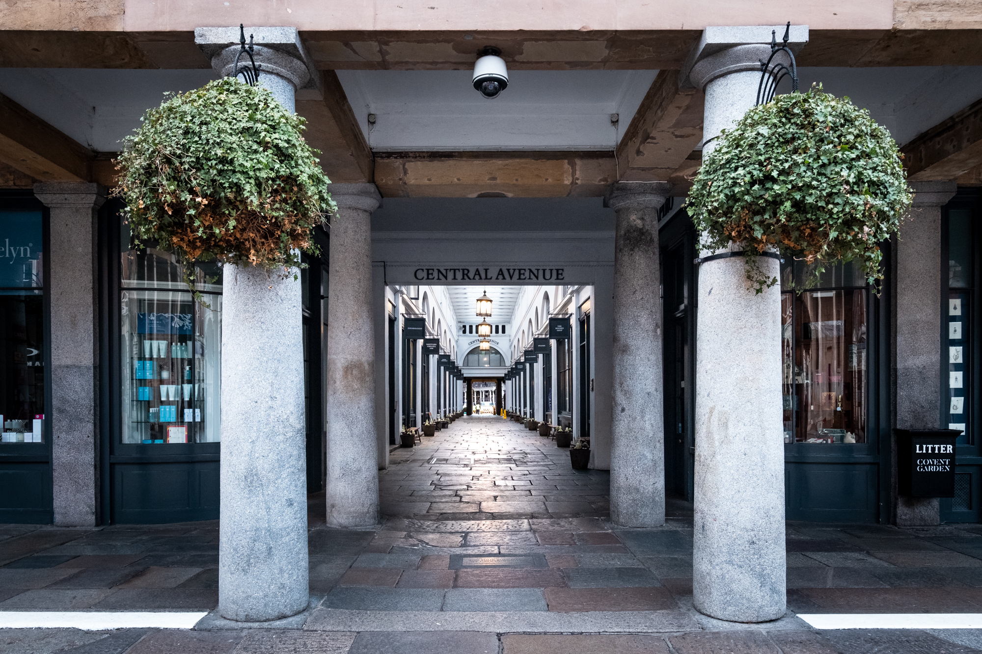 A photo of The Market Building walkway, Covent Garden, London taken by Trevor Sherwin