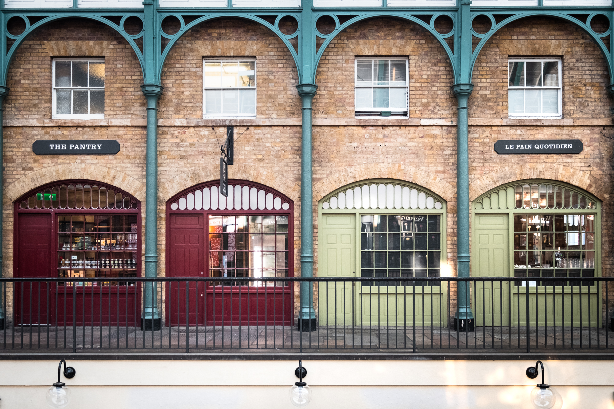 A photo of The Market Building store fronts, Covent Garden, London taken by Trevor Sherwin