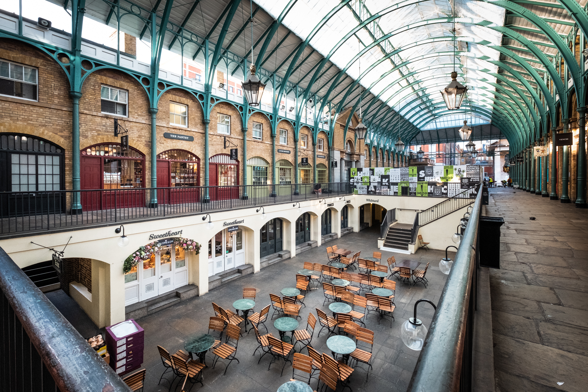 A photo of The Market Building architecture, Covent Garden, London taken by Trevor Sherwin
