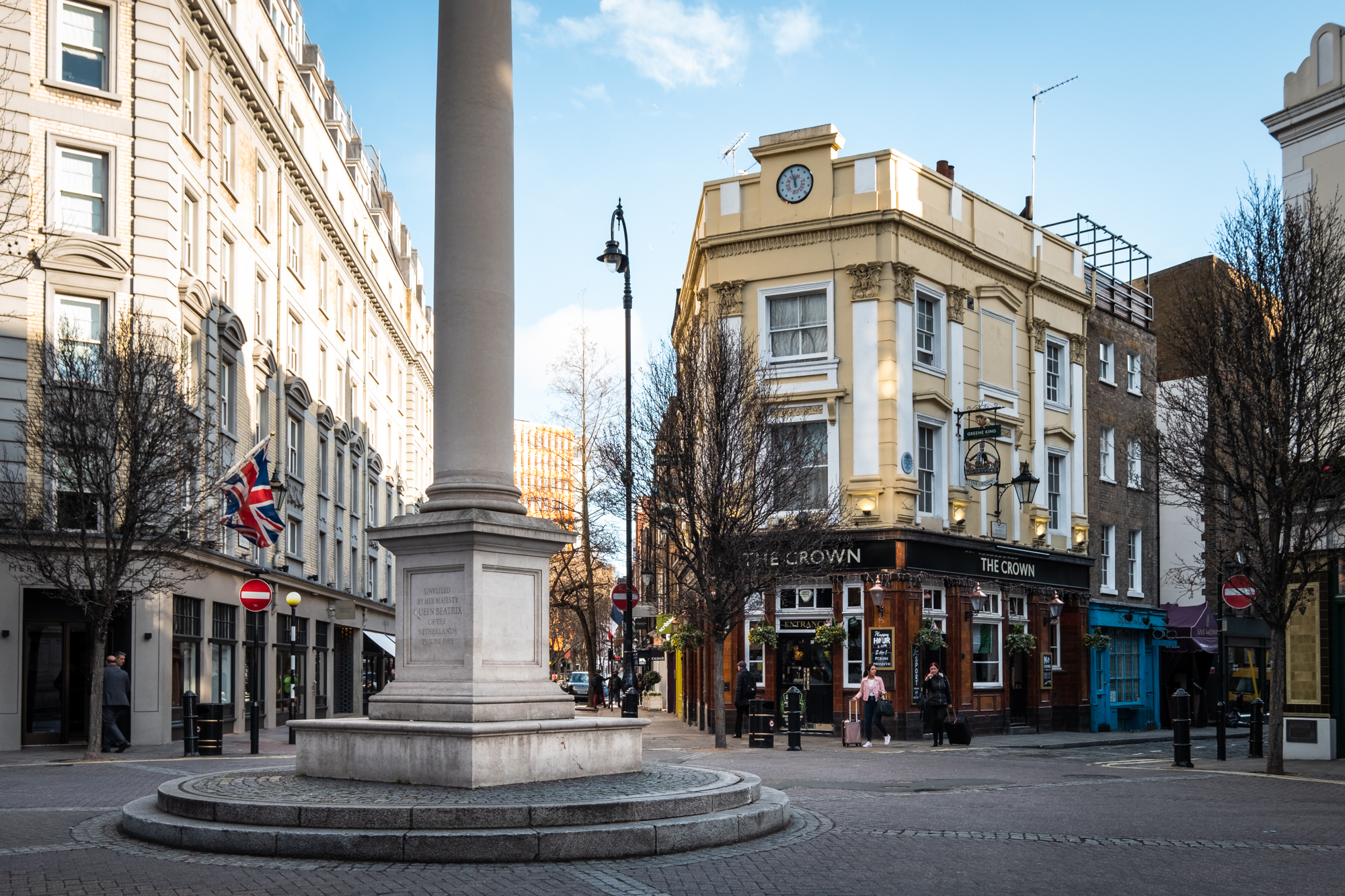 A photo of the Seven Dials junction, London taken by Trevor Sherwin