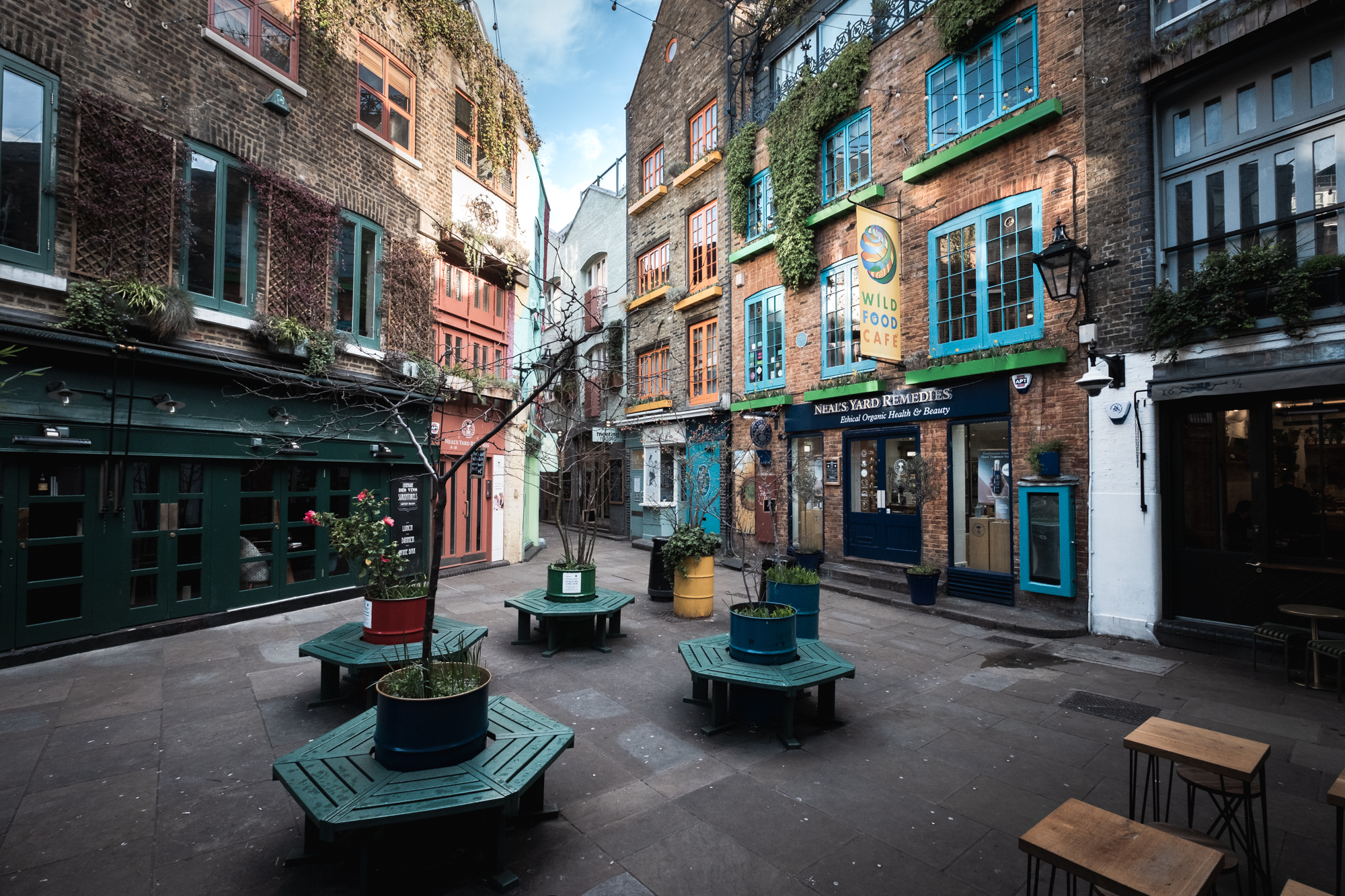 A photo of Neal's Yard, London taken by Trevor Sherwin