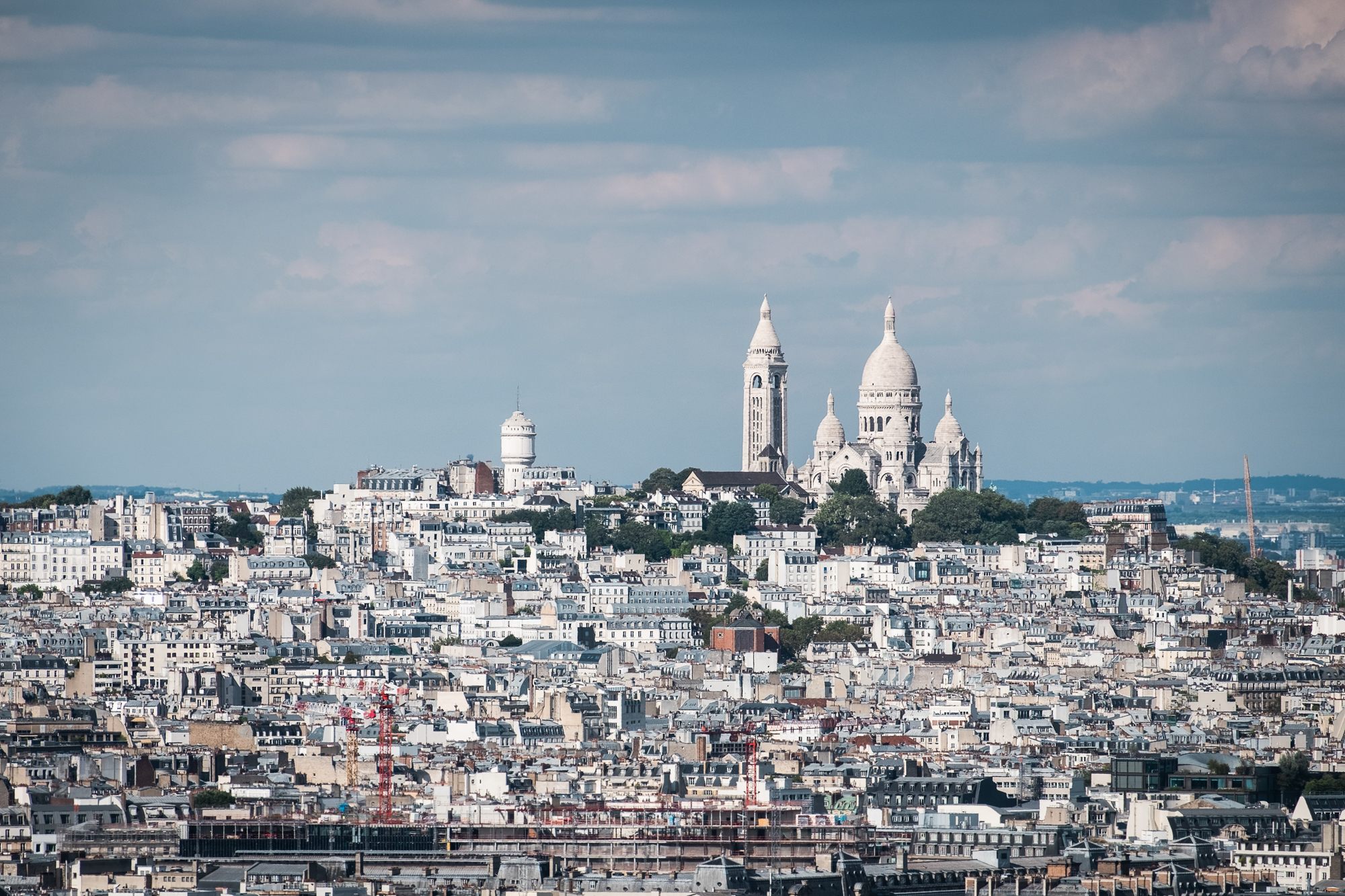 Sacré-Cœur Basilica from the Eiffel Tower | Fujifilm XT2 | XF55-200mm | 200mm | 1/1,100 second | f/7.1 | ISO200