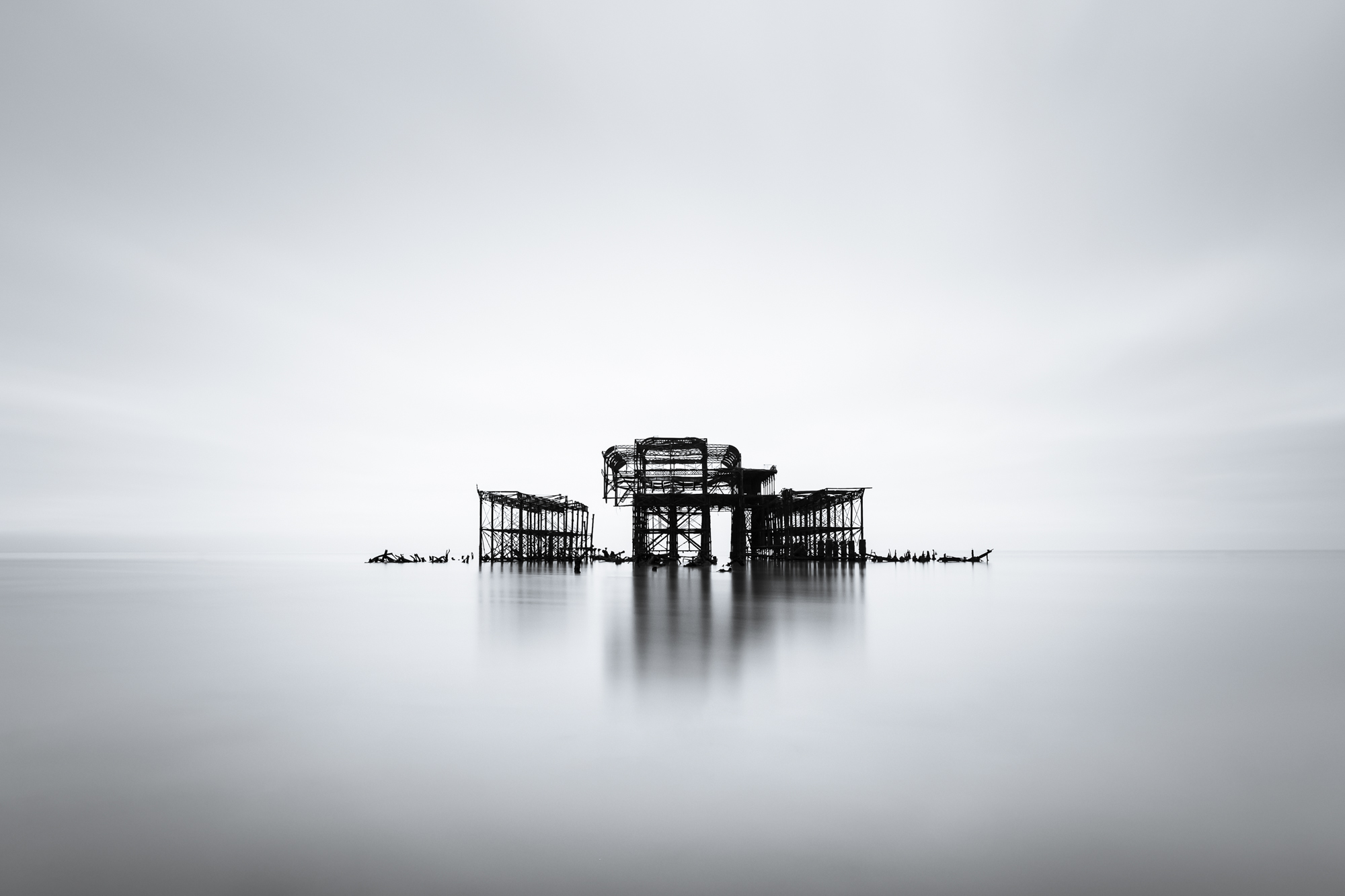 The West Pier | Fujifilm XT2 | XF10-24mm | 12mm | 199 seconds | f/7.1 | ISO200