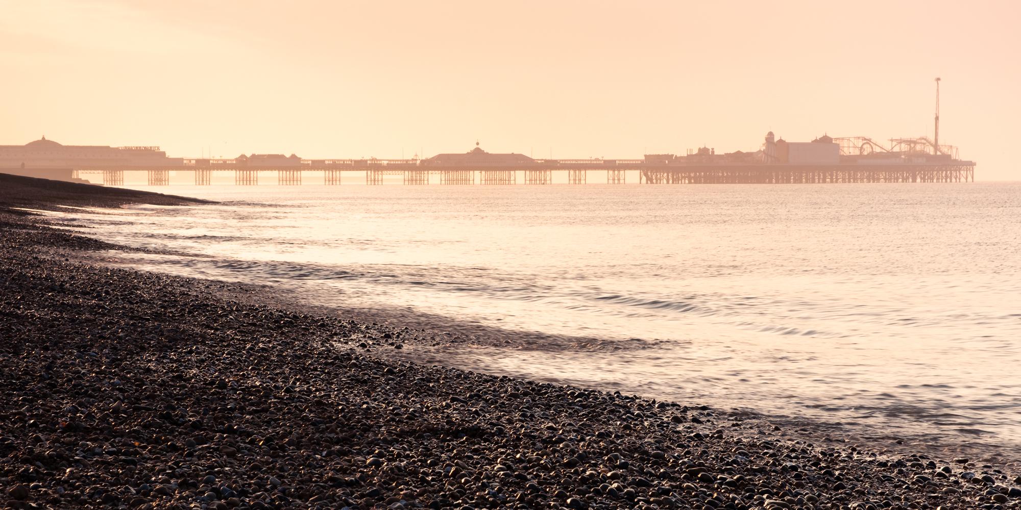 Brighton Beach at Sunrise