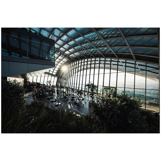 Sunrise at the Sky Garden.