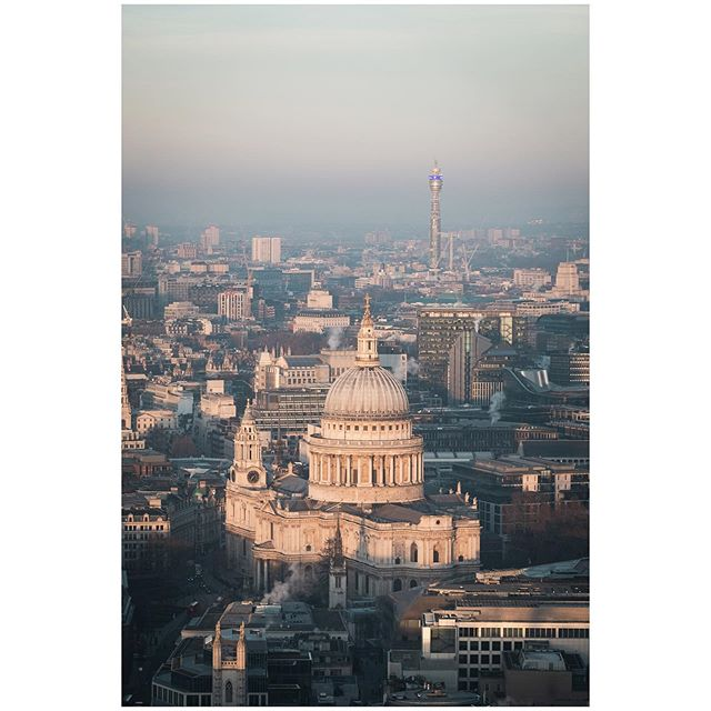 St Paul's Cathedral from above.