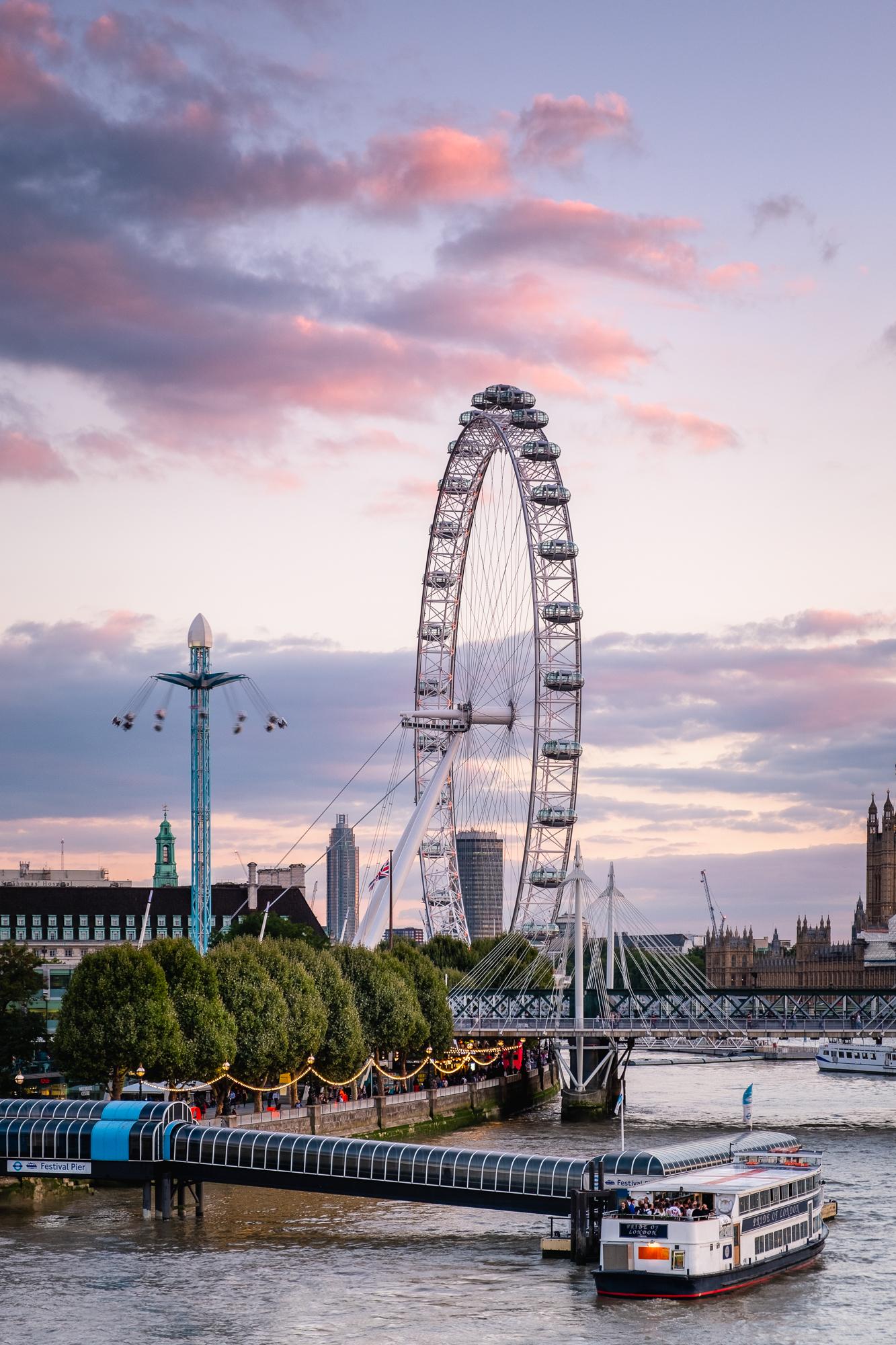 The London Eye | Fujifilm XT2 | XF18-55mm | 46mm | 1/12th Second | f/7.1 | ISO200