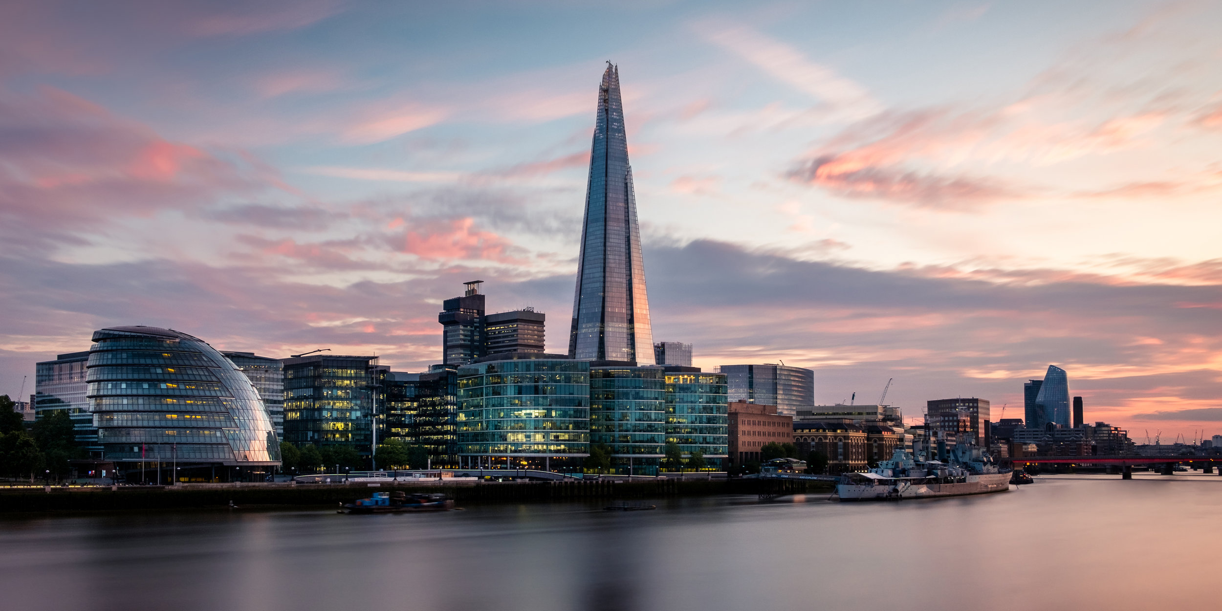 The Shard in London taken at sunset by Trevor Sherwin