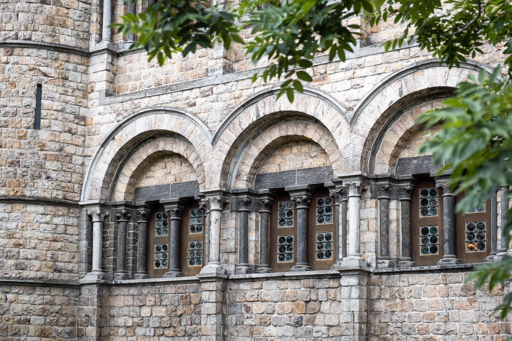 The Gravensteen Castle brickwork arches