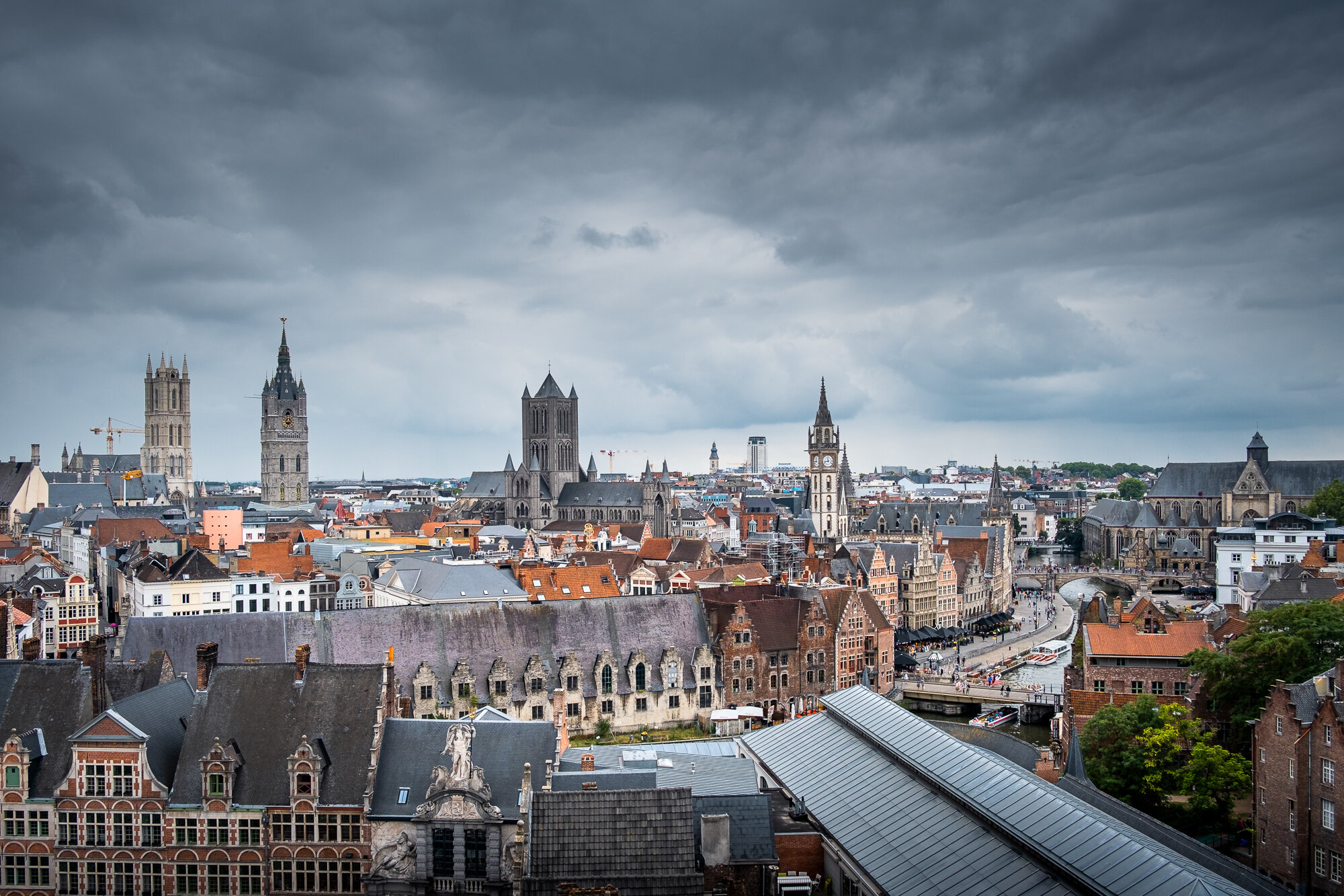 The Ghent Rooftops taken from Gravensteen Castle | Fujifilm XT-30 | XF18-55mm | 18mm | 1/850 Second | f/3.6 | ISO160