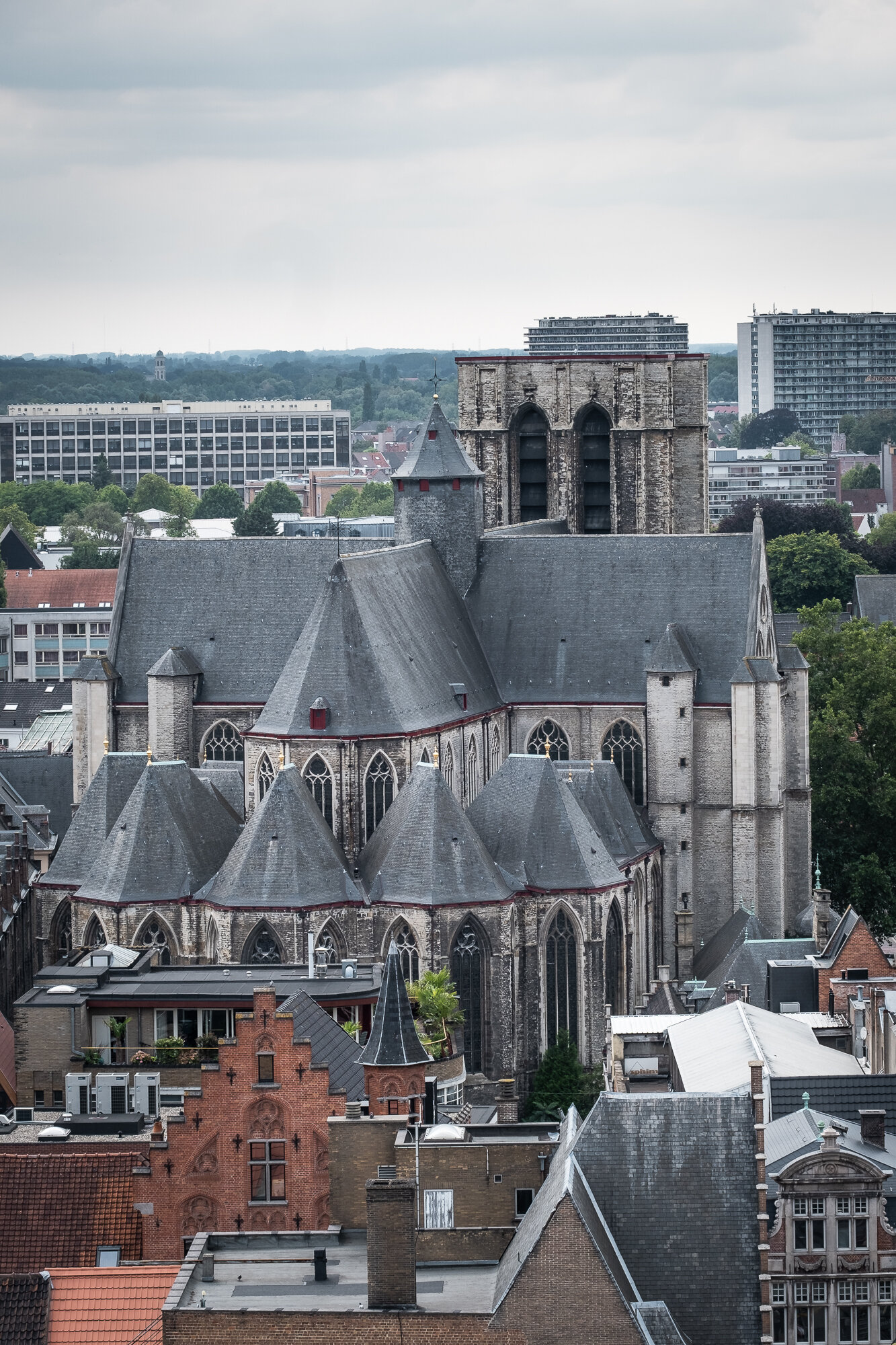 Saint Michael's Church taken from atop the Belfry of Ghent