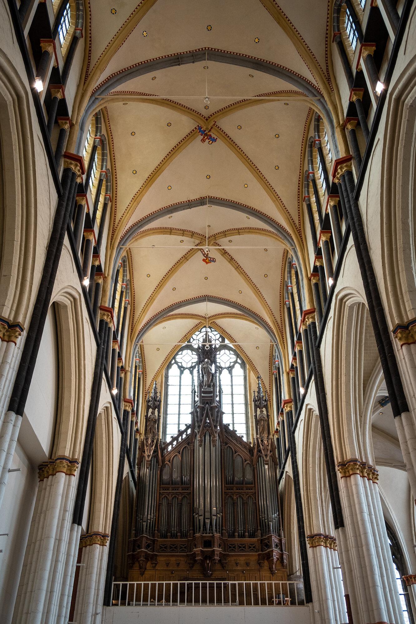 The pipe organ inside St. Nicholas' Church main hall