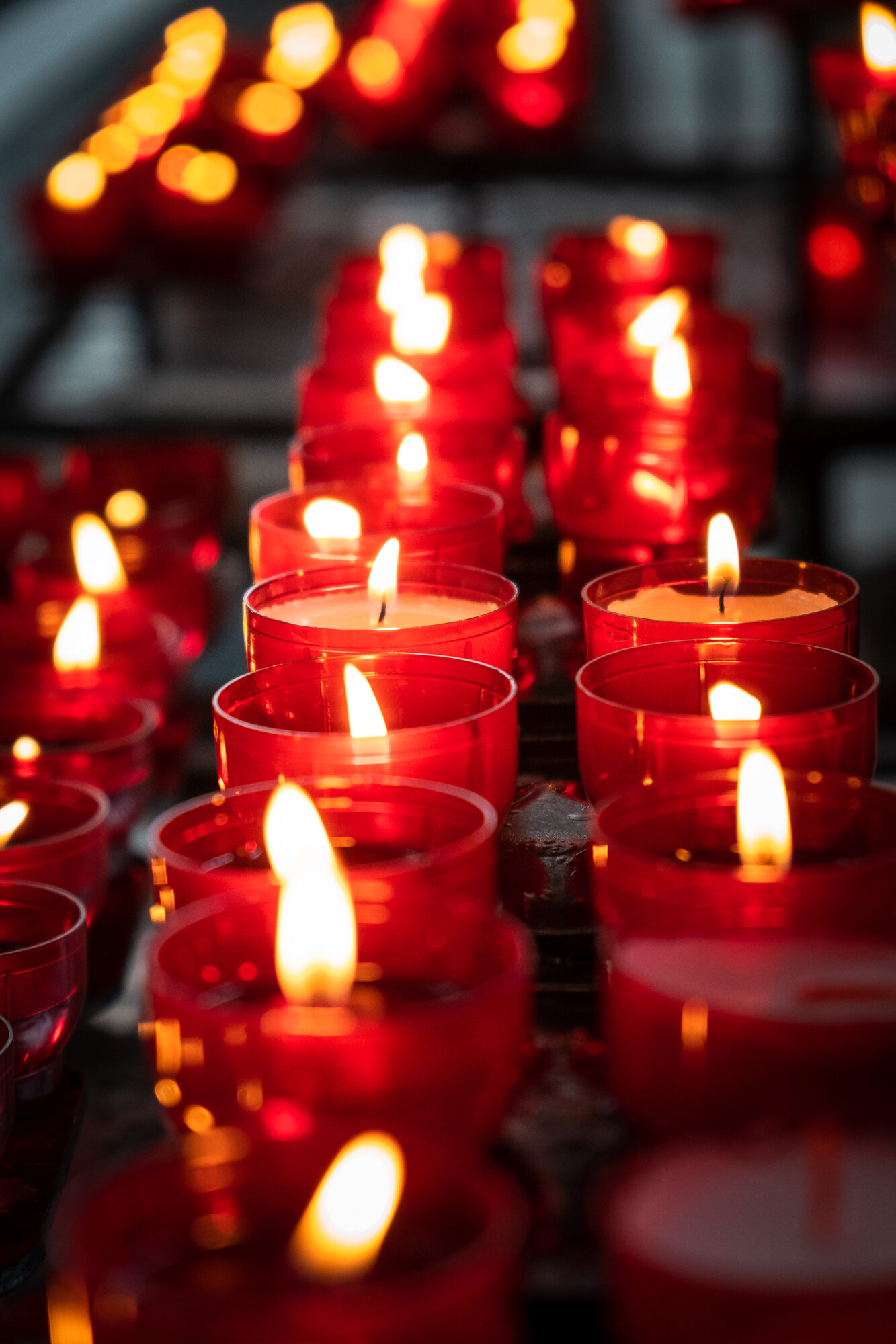 Candles inside St. Nicholas' Church