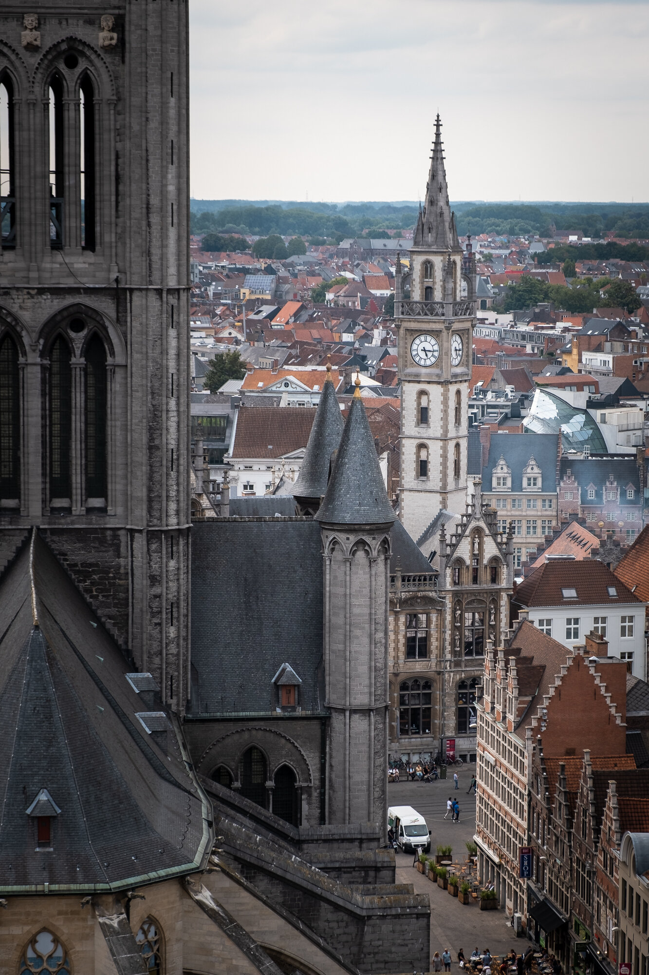 St. Nicholas' Church taken from the Belfry of Ghent