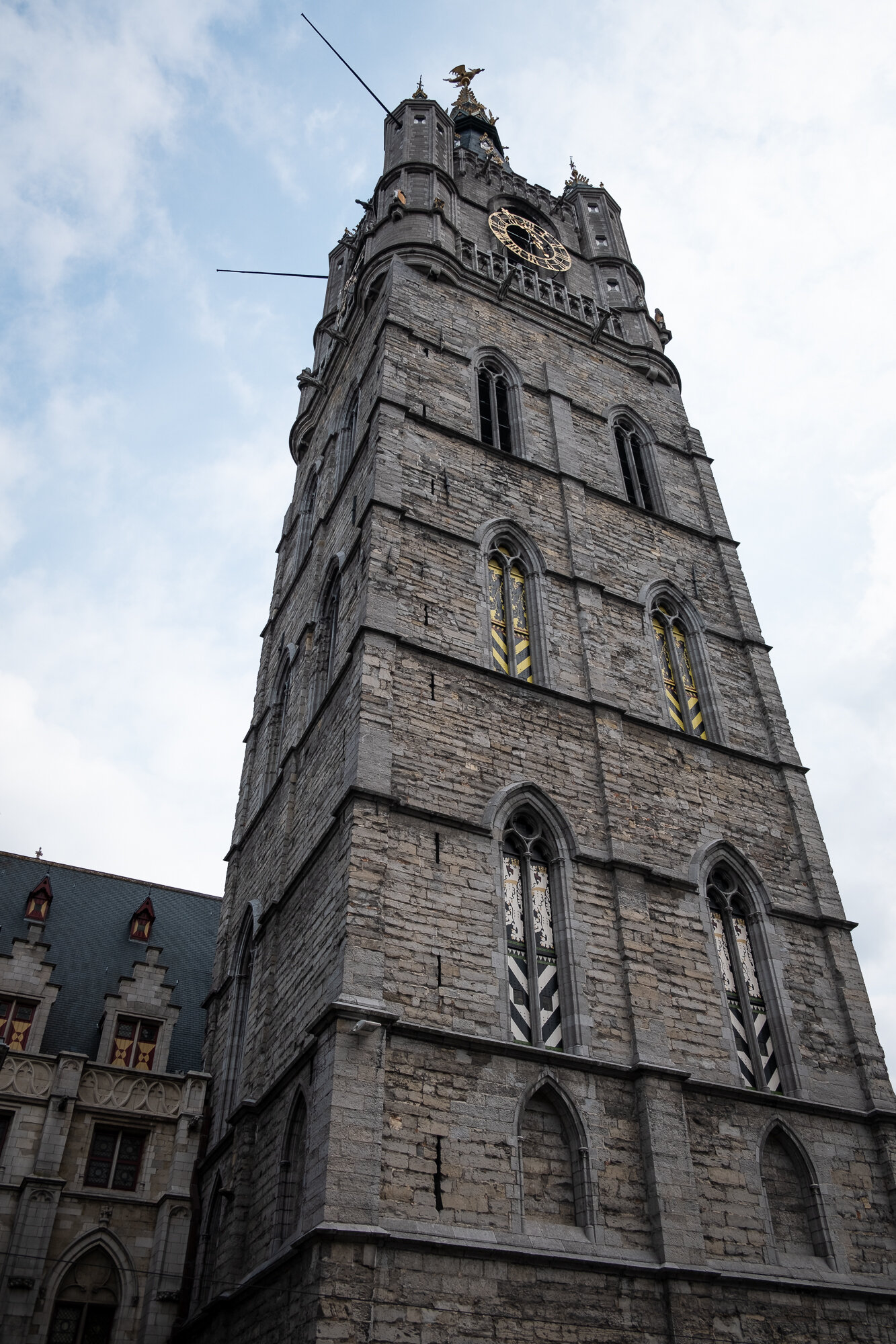 Looking up at the Belfry of Ghent