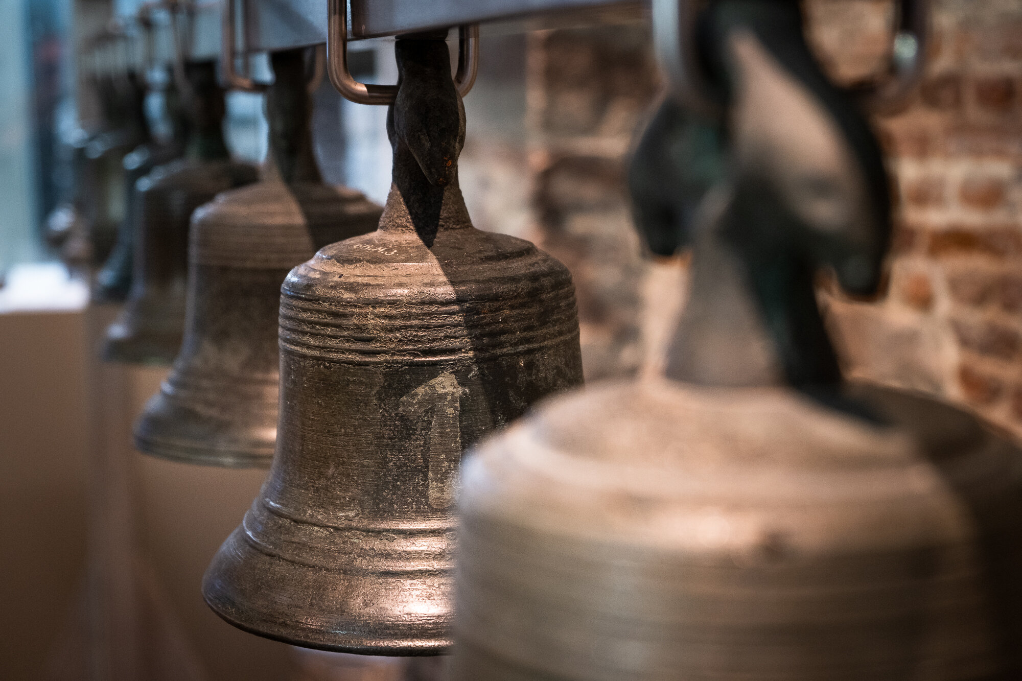 Some bells inside the Belfry of Ghent's tower