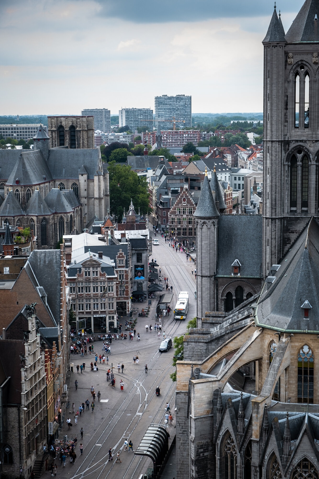 The view of Saint Michael's from the Belfry of Ghent