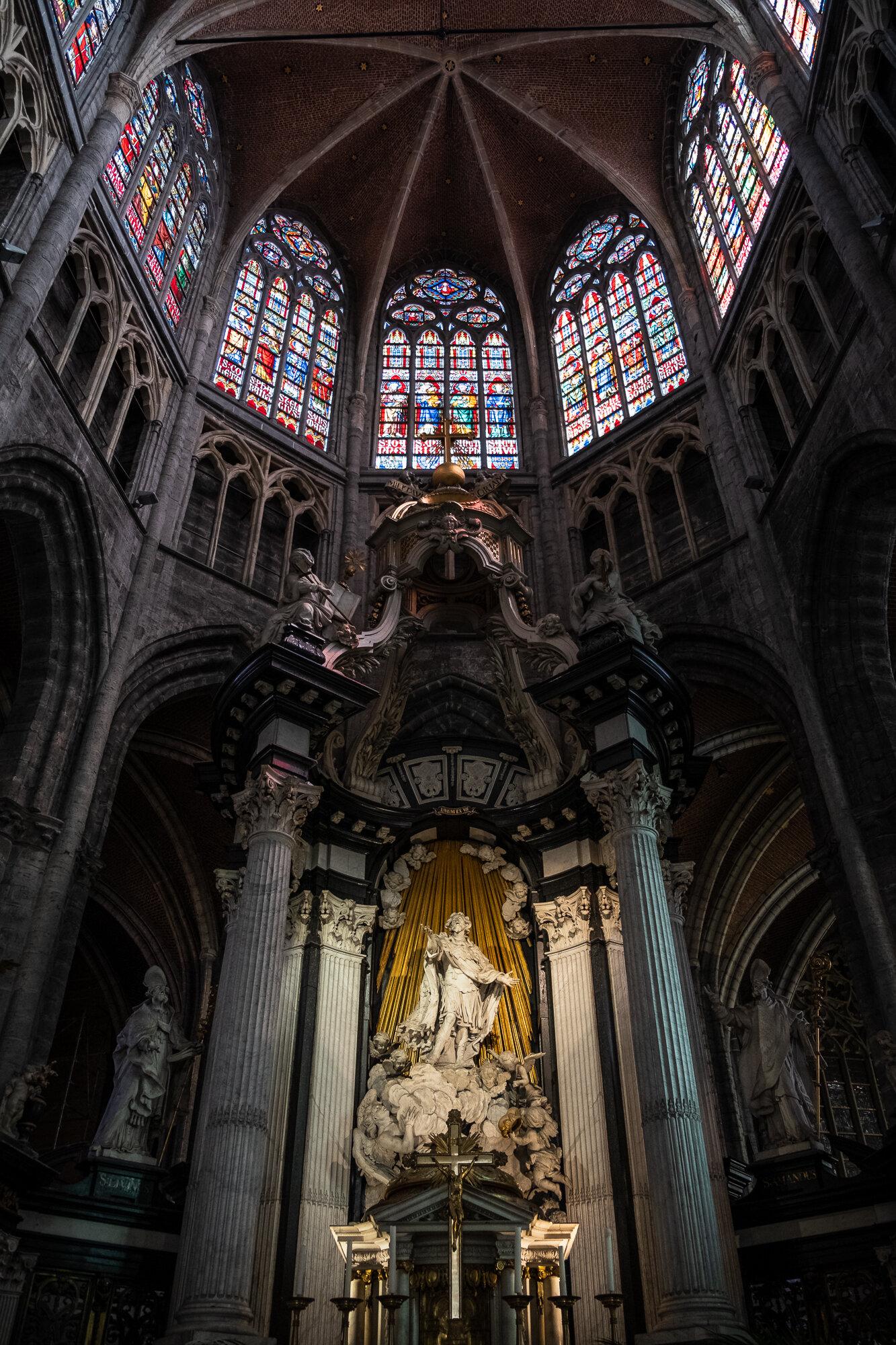 The beautiful Saint Bavo Cathedral's interior