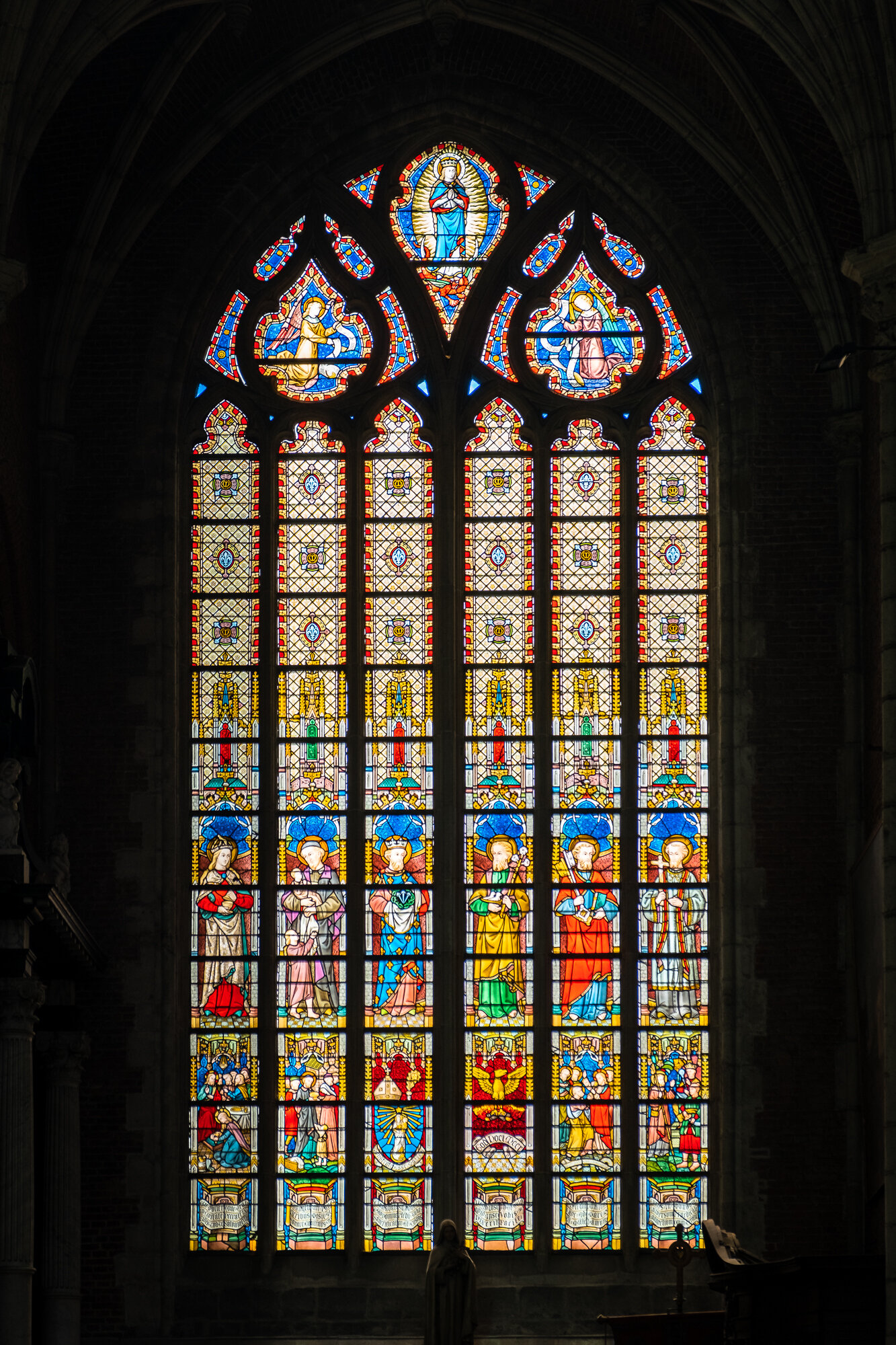 Saint Bavo Cathedral's stained glass window