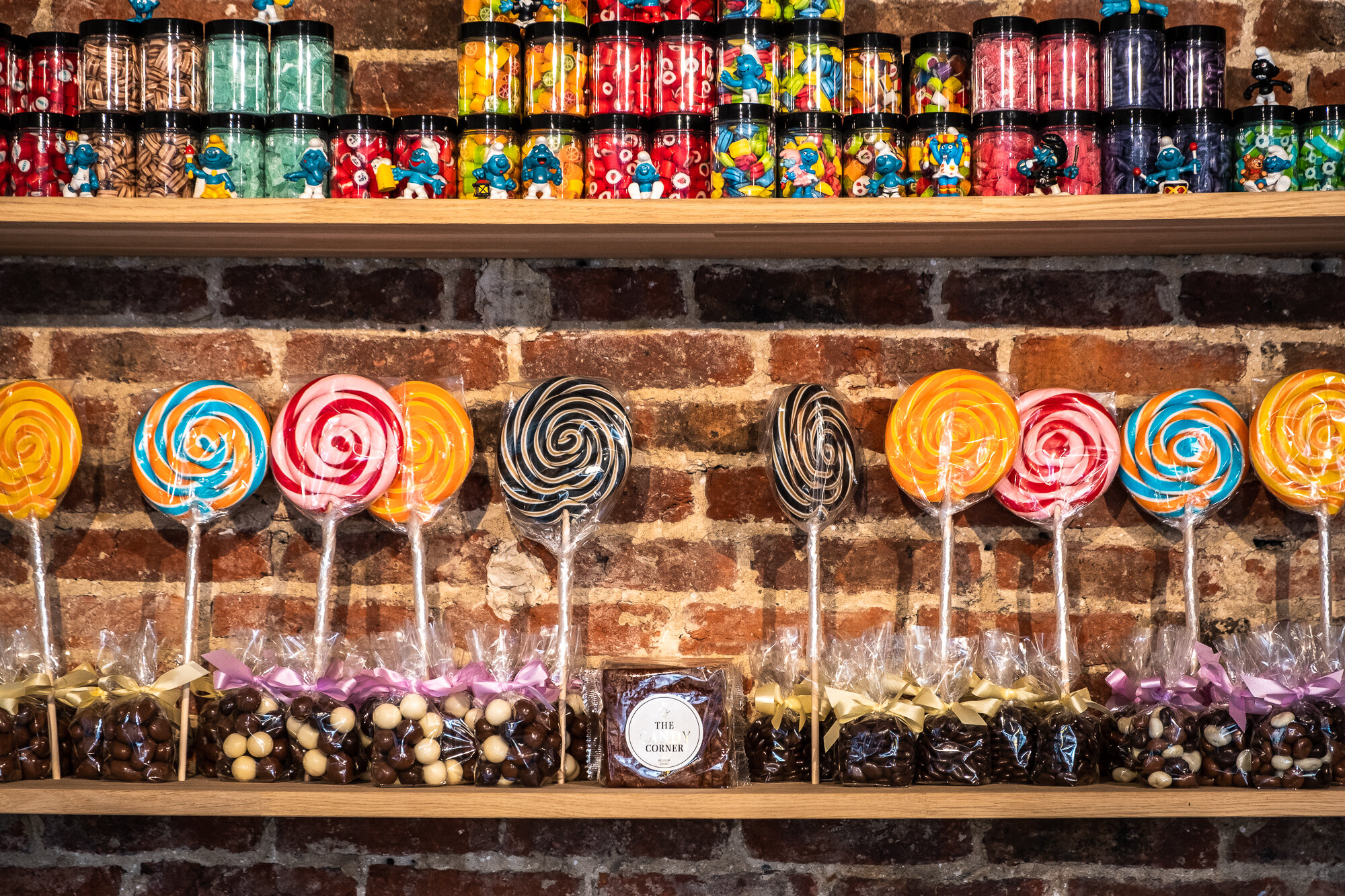 Inside one of Ghent's many sweet shops