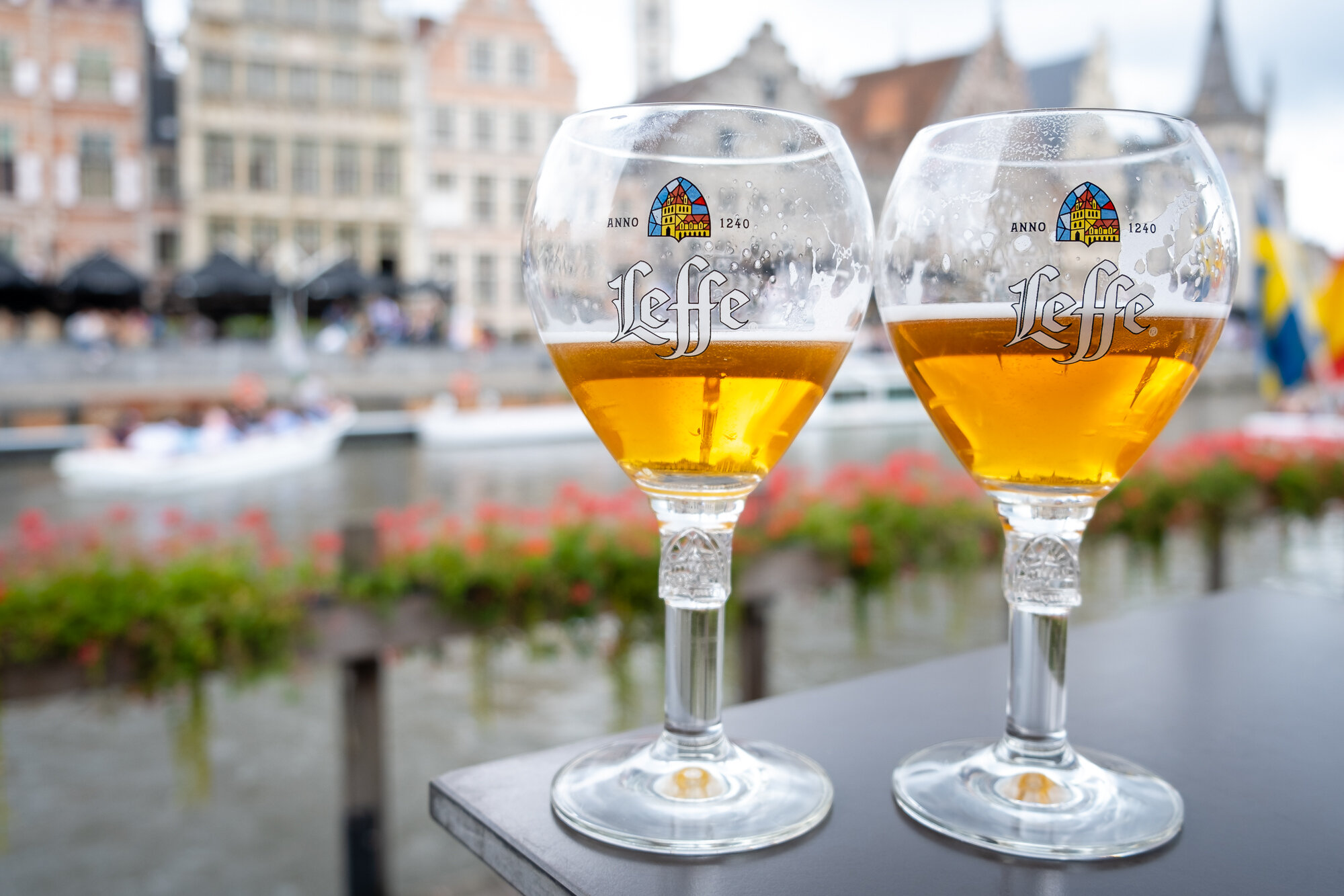 Enjoying some of the tasty beers Ghent has to offer