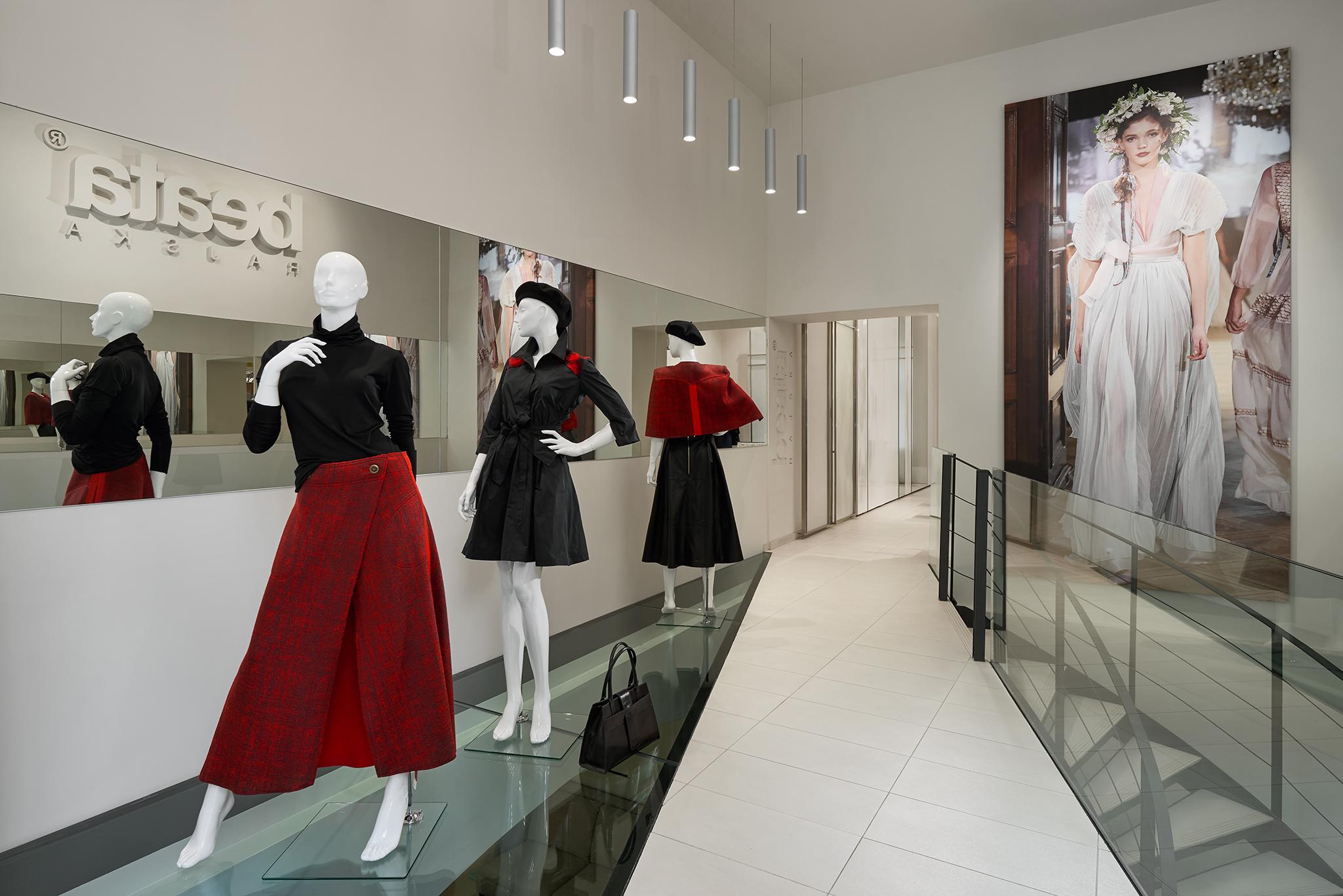 At fashion designer's