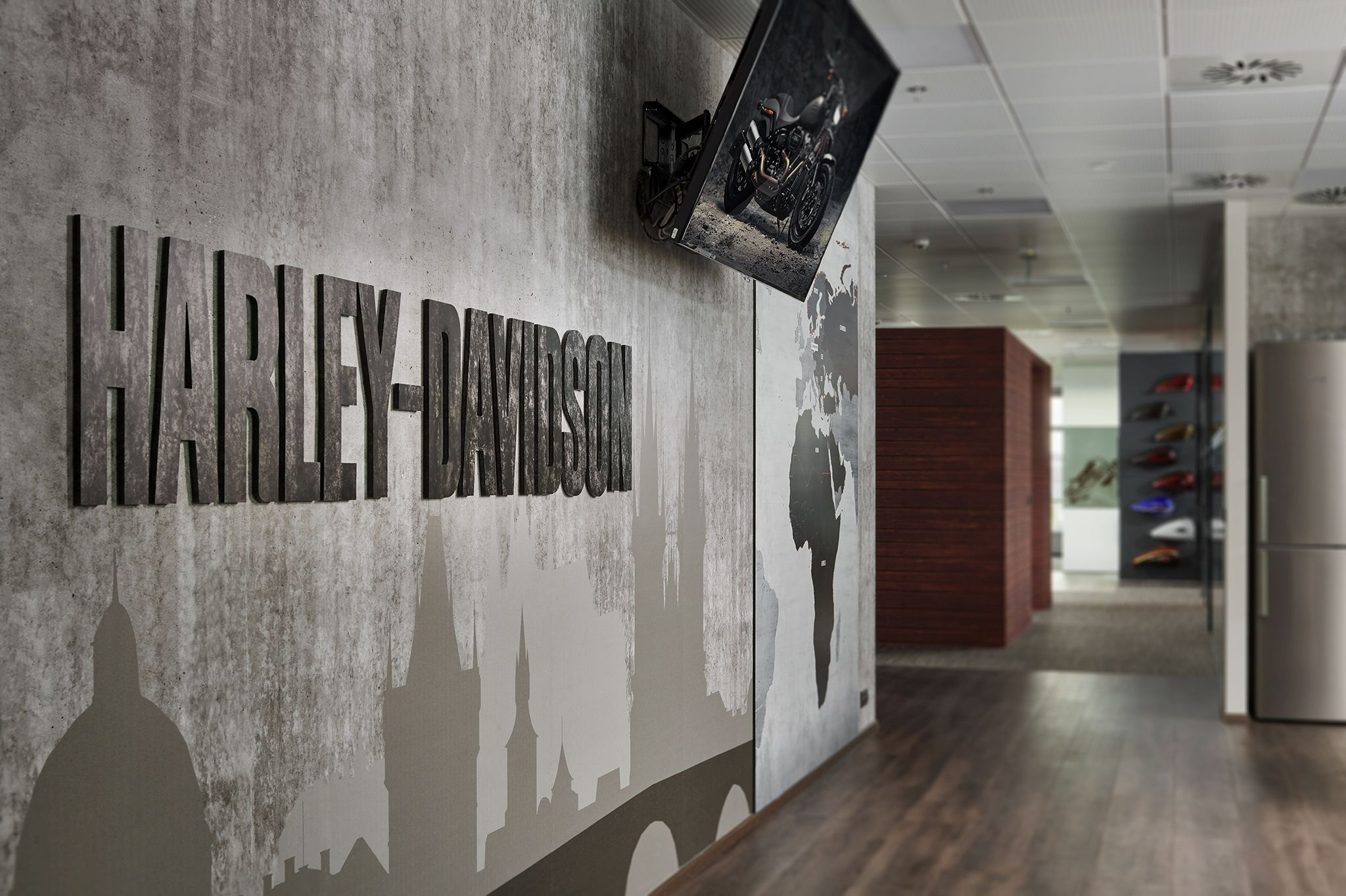 Harley Davidson office in Prague