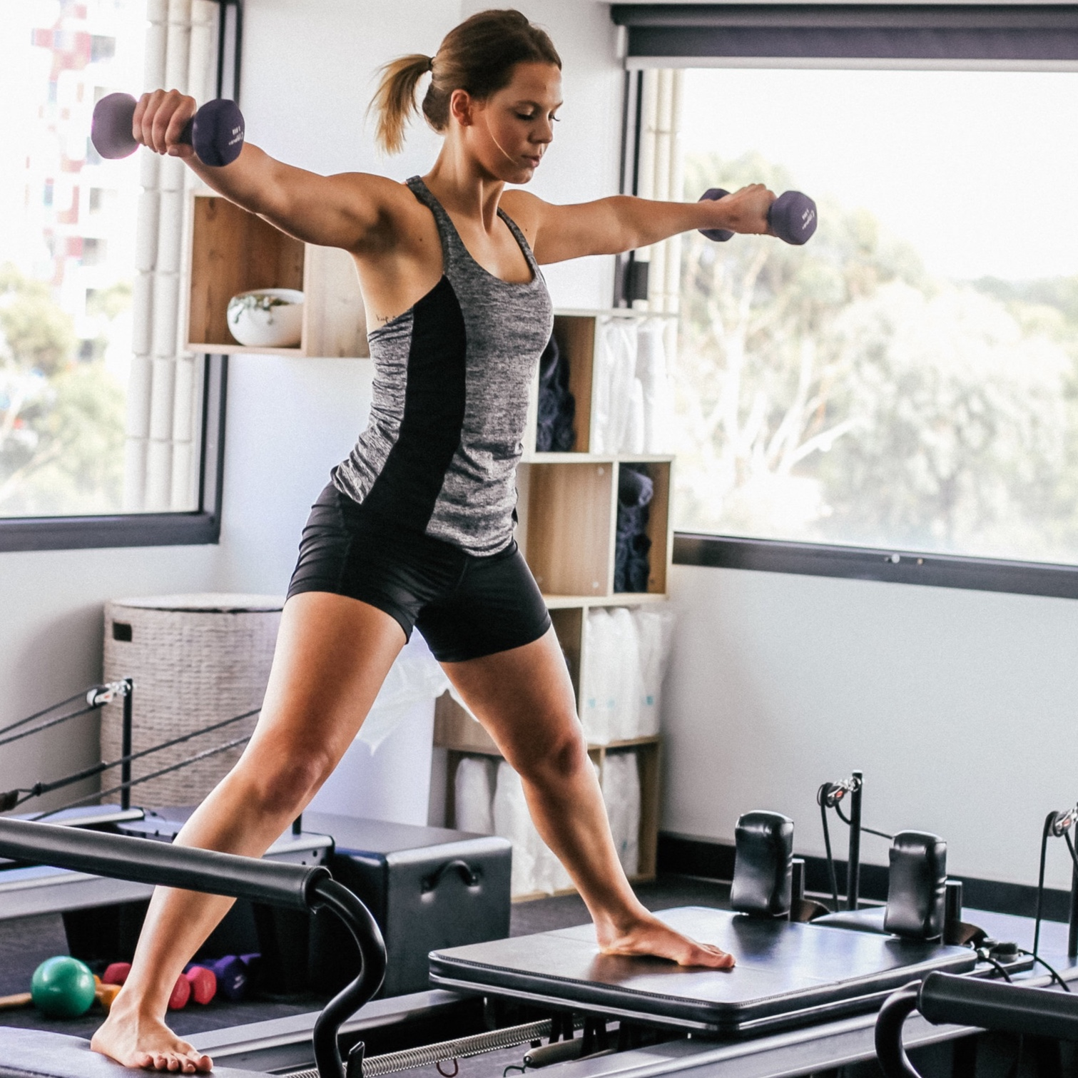 Reformer private session workout in Thames Ditton Studio, Surrey
