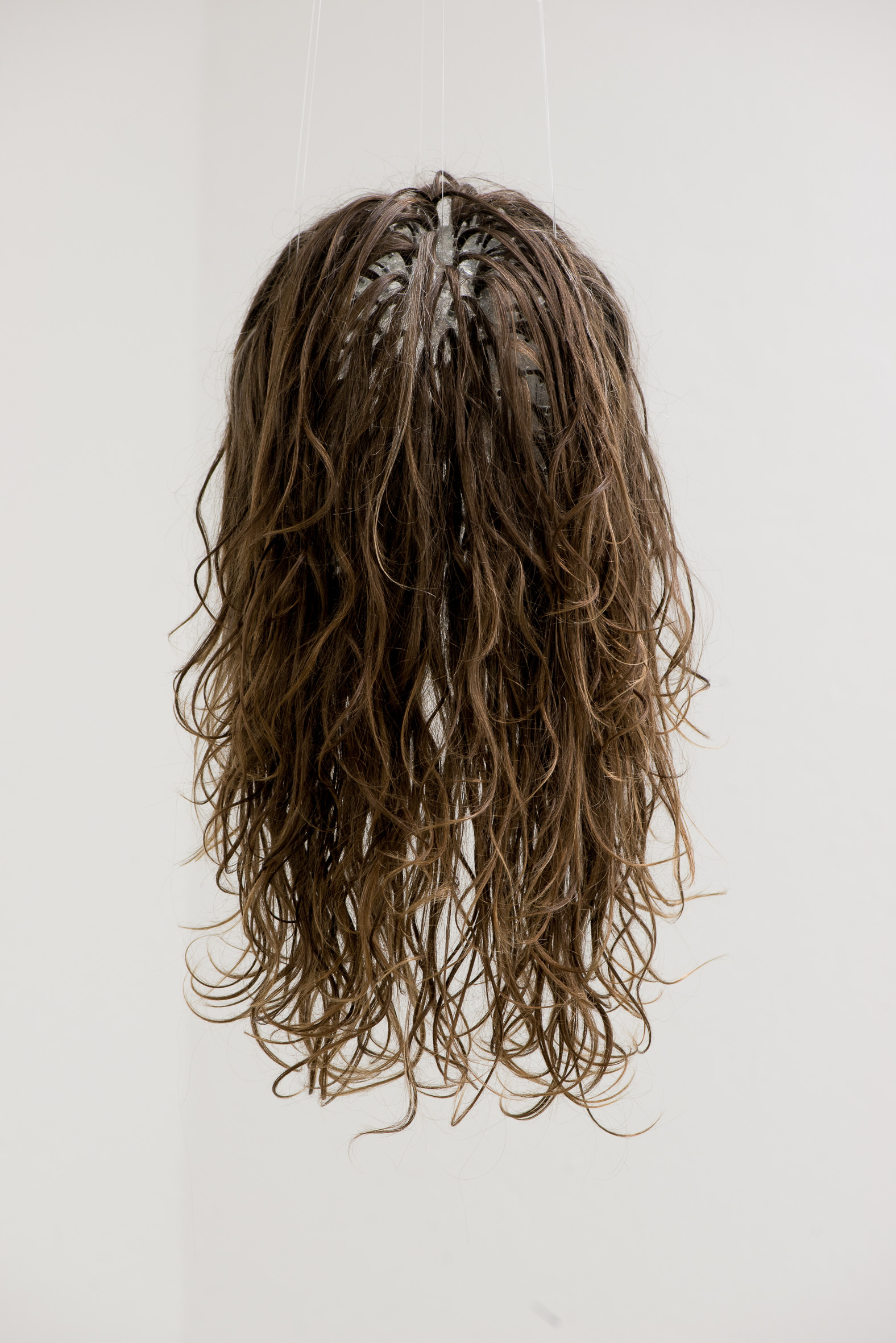 Minor Hell 2014-2017,  artists's hair and glass, 2016