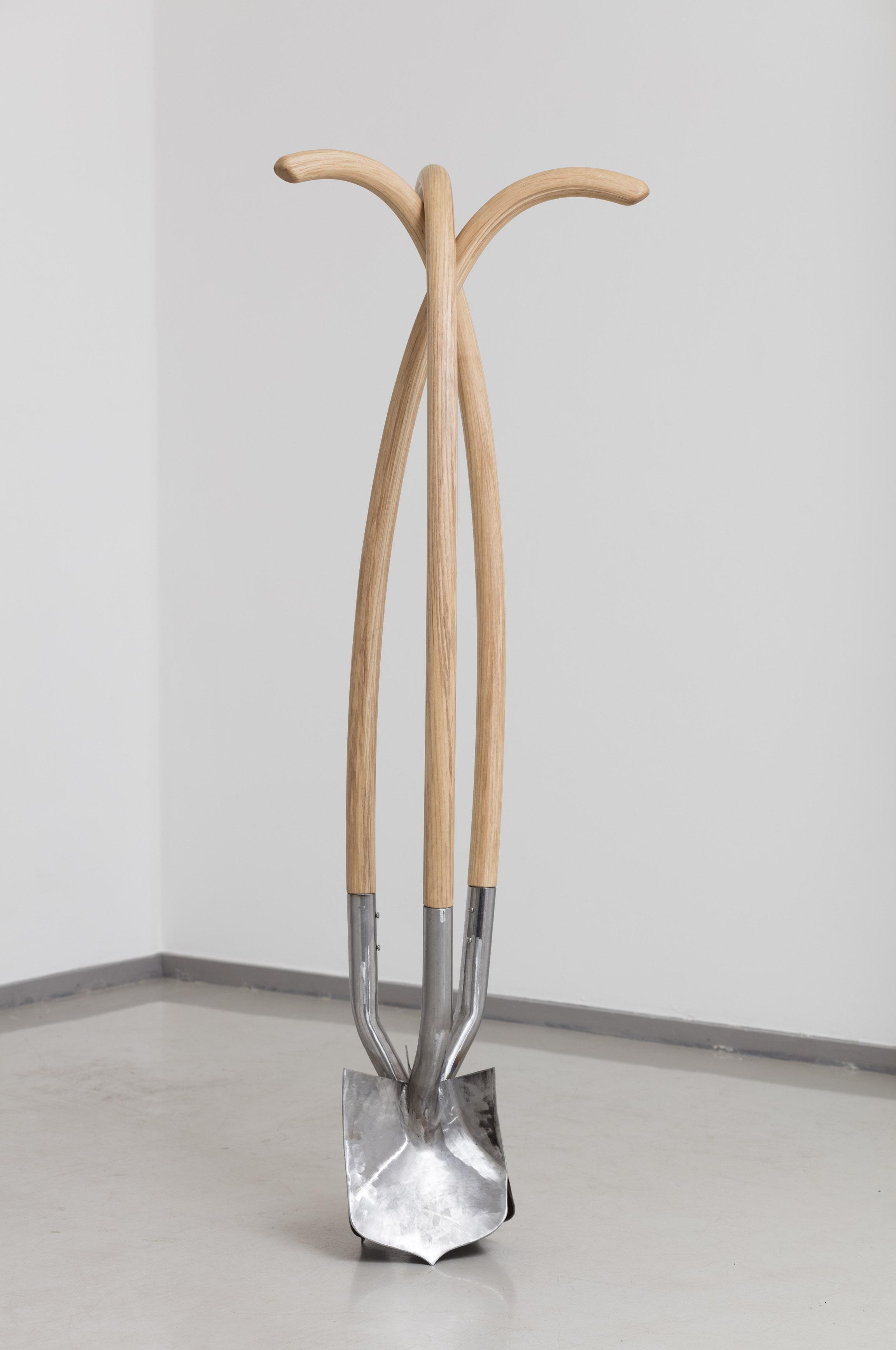 Tool II, Ash, oak and steel, 2017