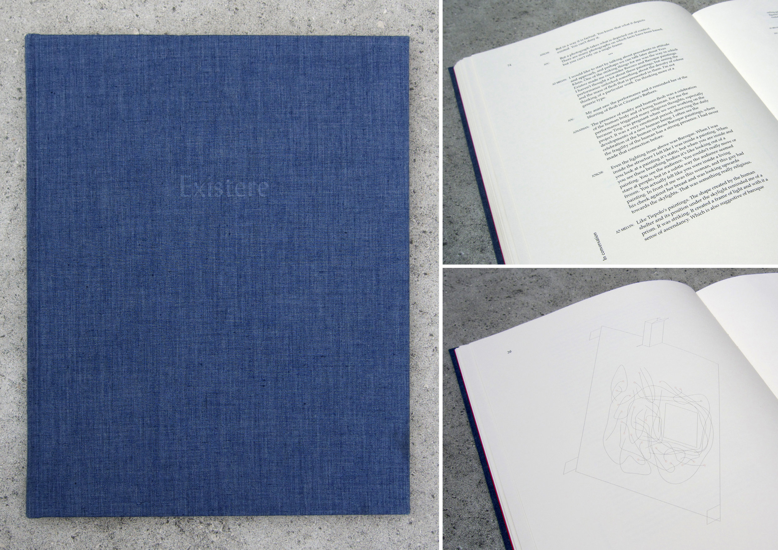 Existere Book, fabric and paper, 2012