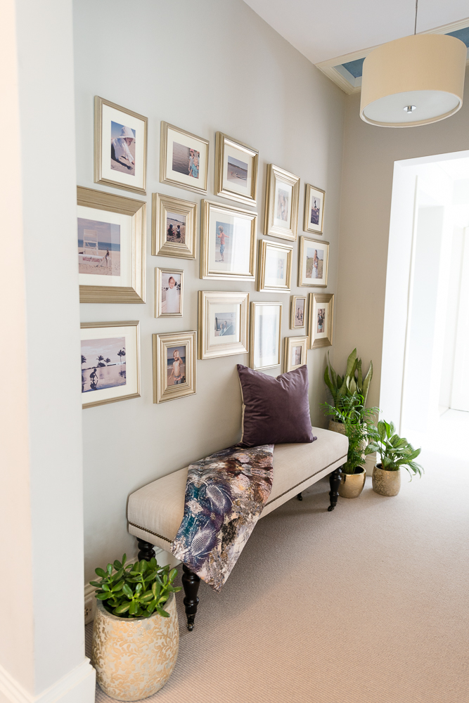 Mini Wall Gallery Meets Mini Hall Nook