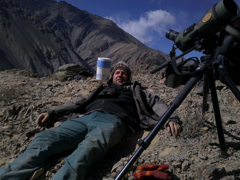 Another way of searching for Snow Leopards. Ladakh, India, 2011. Photo © Szilvia Molnár