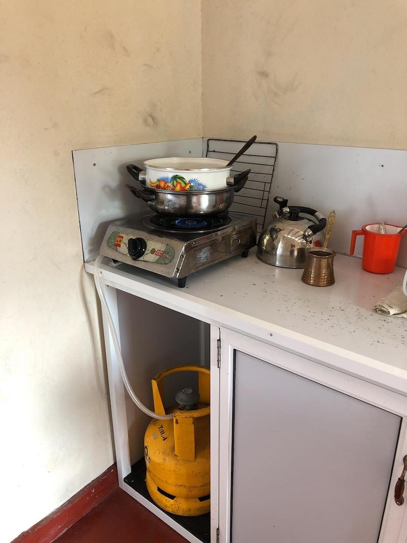 Our kitchen in Weligama... Photo © Szilvia Molnár