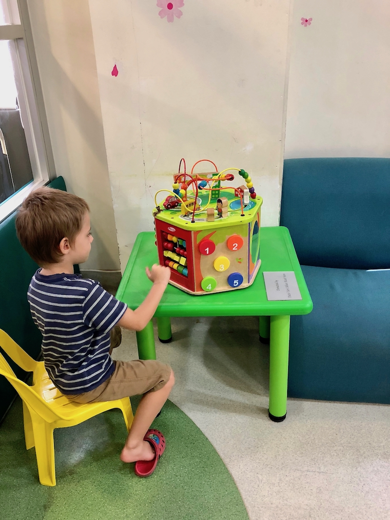 The play area at PAH paediatrics lobby