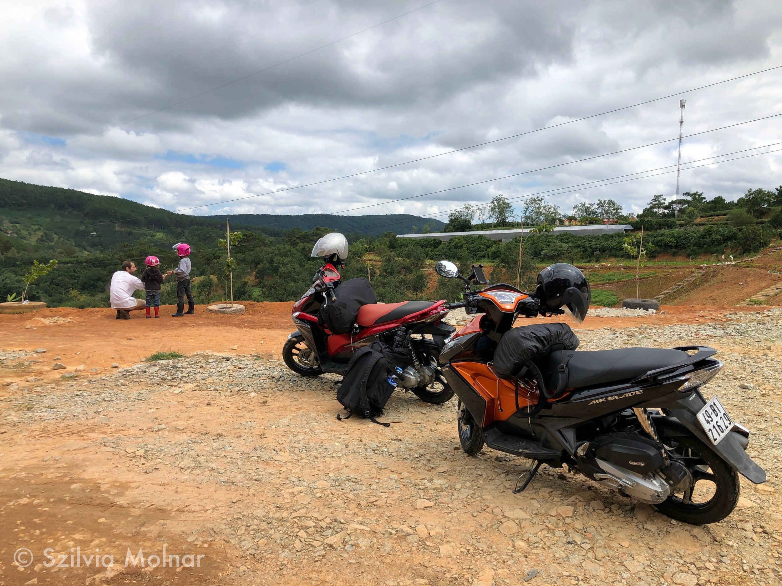 Motorral Vietnámban Da Lat