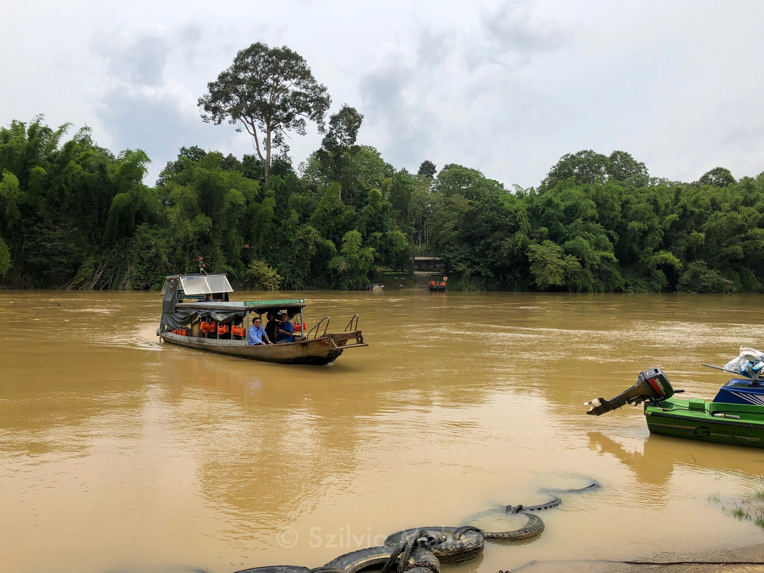 The ferry that takes you to the national park side of the river