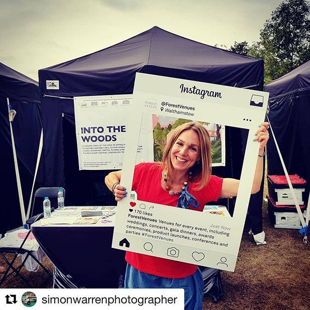 #Repost @simonwarrenphotographer with @get_repost ・・・ @forestvenues stand at Chingfest today with my good friend Theresa #venues #walthamstow #walthamforest