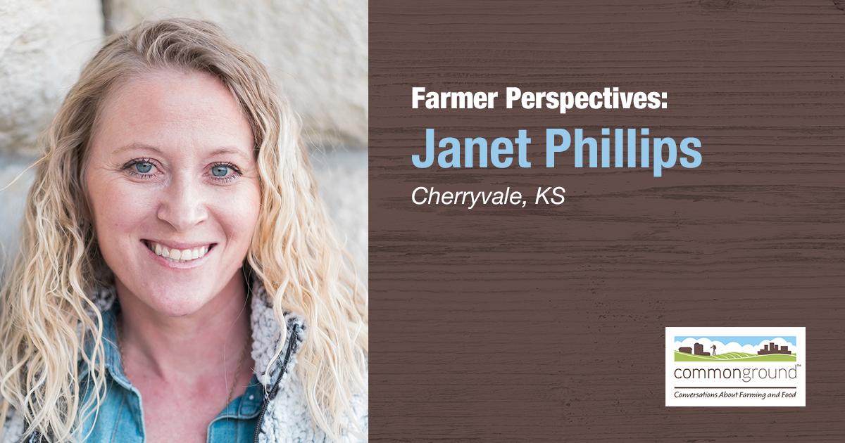 Janet Phillips CommonGround Kansas Farmer Volunteer