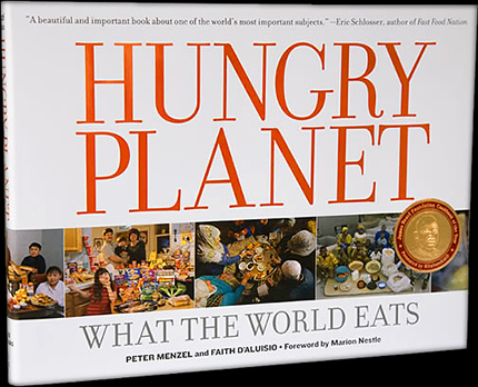 Hungry Planet - Each evening at our dinner table, my family sits down for a meal and conversation that inevitably involves picking playfully at one another. I rarely thought about how my family's evening meal experience differed from other families around the world.This changed when I read the seventh book in our Kids' Reading List series, Hungry Planet by Peter Menzel and Faith D'Aluisio. The book profiles 600 meals of 30 families in 24 countries by detailing weekly food purchases. Each portrait includes the family surrounded by a week's worth of groceries. Photo-essays also give readers a look at international street food, meat markets, fast food, and cookery.This book is best suited to give older children a glimpse into the forces that impact the dinner tables of families around the world. Readers begin to understand the influence poverty, conflict and affluence have on the nutrition of the family diet.