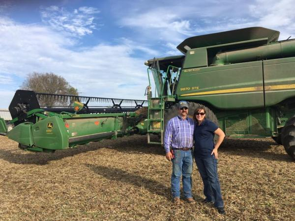 LaVell Winsor and her husband, Andy, use technology on their farm to improve safety and sustainability.