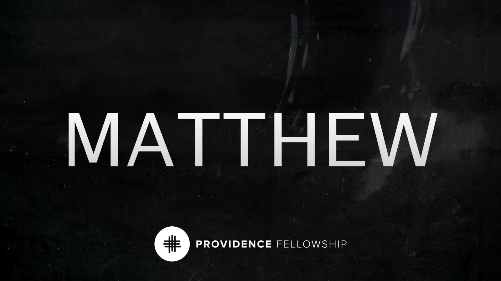 The life of Christ - Matthew 1:1Chad Cronin