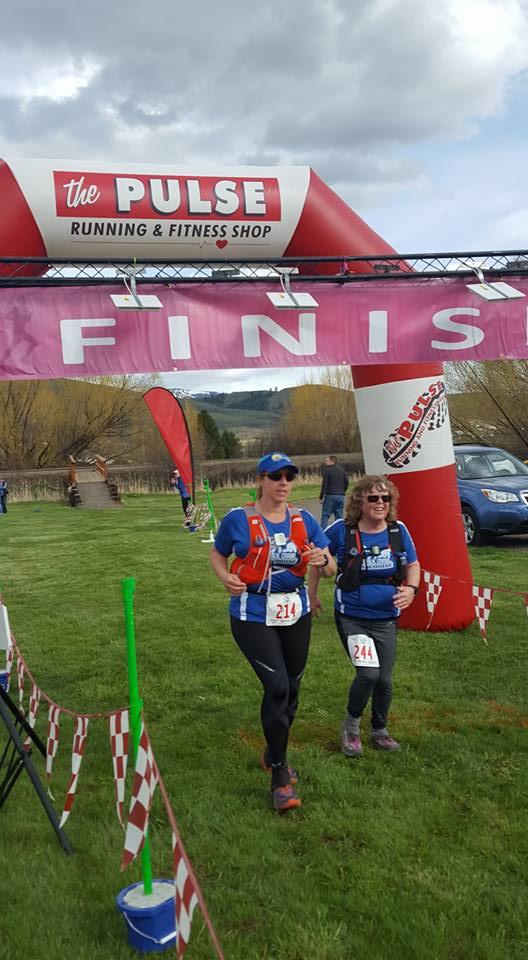 Linda Falkner, Kathy Parks - Weiser River Trail 50K