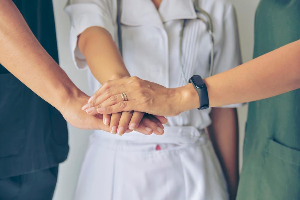 professionals in a health care unit