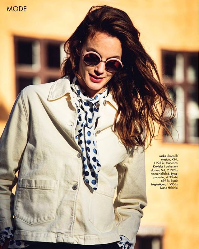 Spring around the corner 🌟 Beautiful shirt by Anna Holtblad in the latest issue of Femina