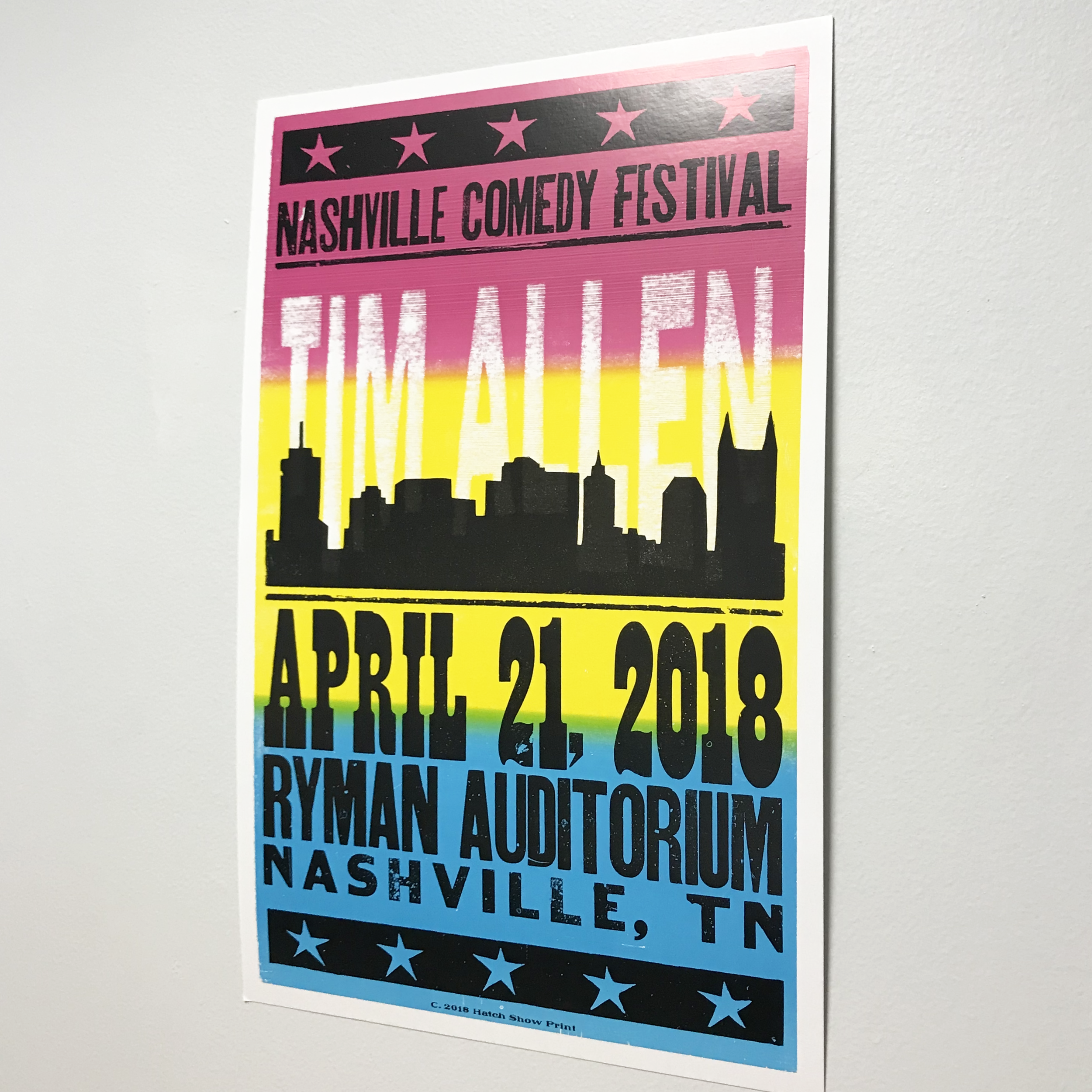 $10.00 - Hatch Show Print: Tim Allen, Retail $25.00